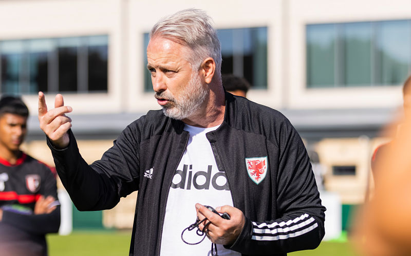 Wales coach Kit Symons delivers session at FCV Academy